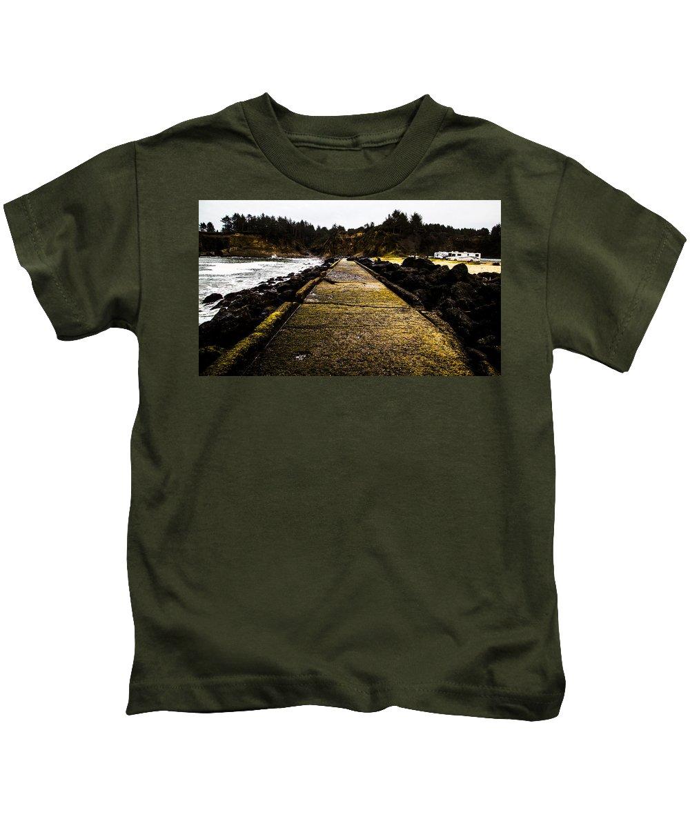 Kids T-Shirt featuring the photograph Bastendorff Beach by Angus Hooper Iii
