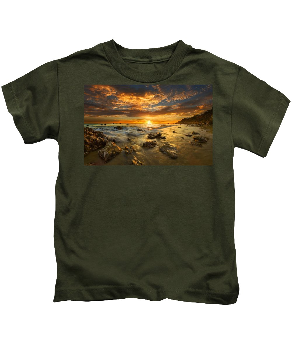 Sunset Kids T-Shirt featuring the digital art Sunset by Dorothy Binder