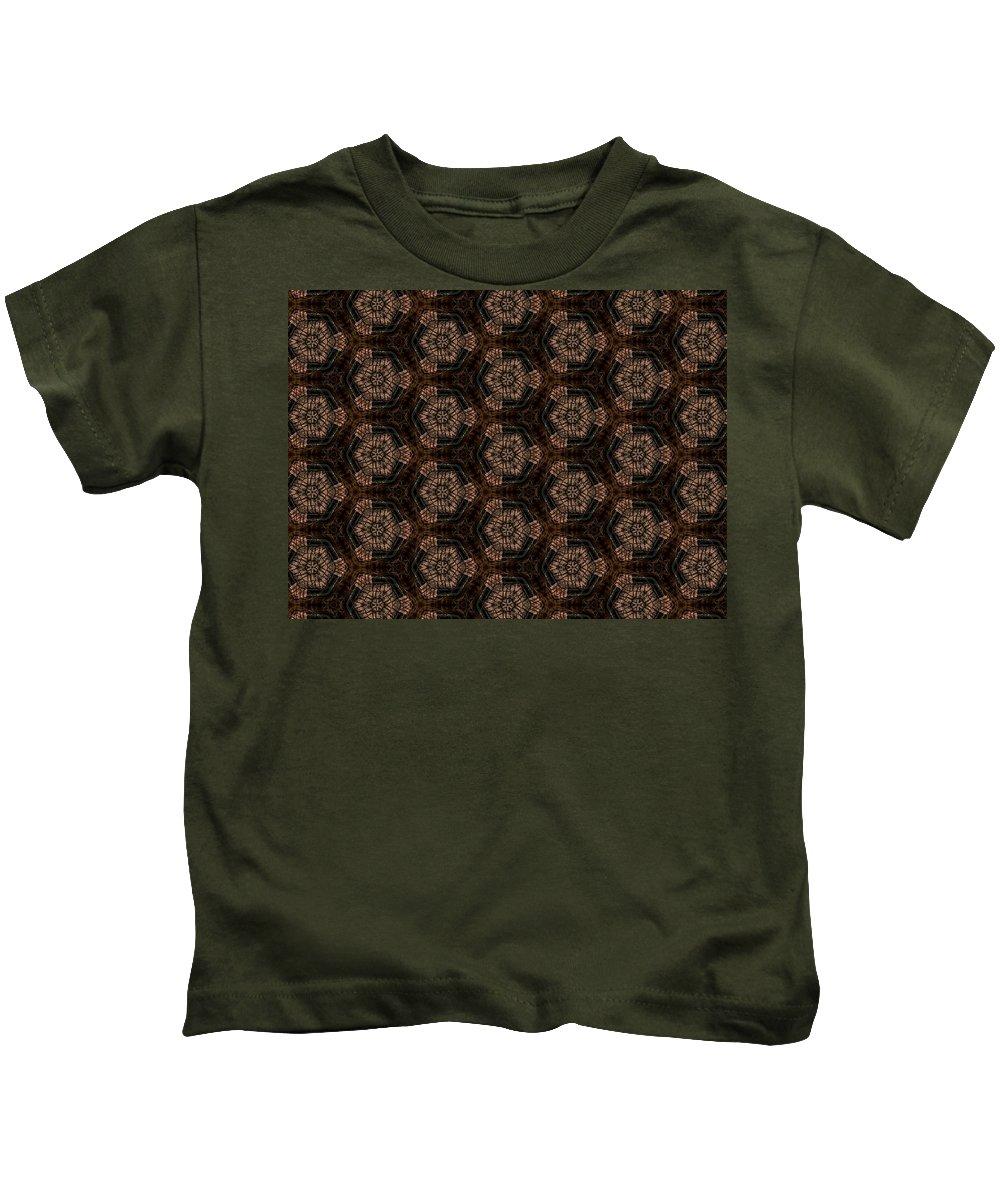 Marjan Mencin Kids T-Shirt featuring the digital art Arabesque 025 by Marjan Mencin