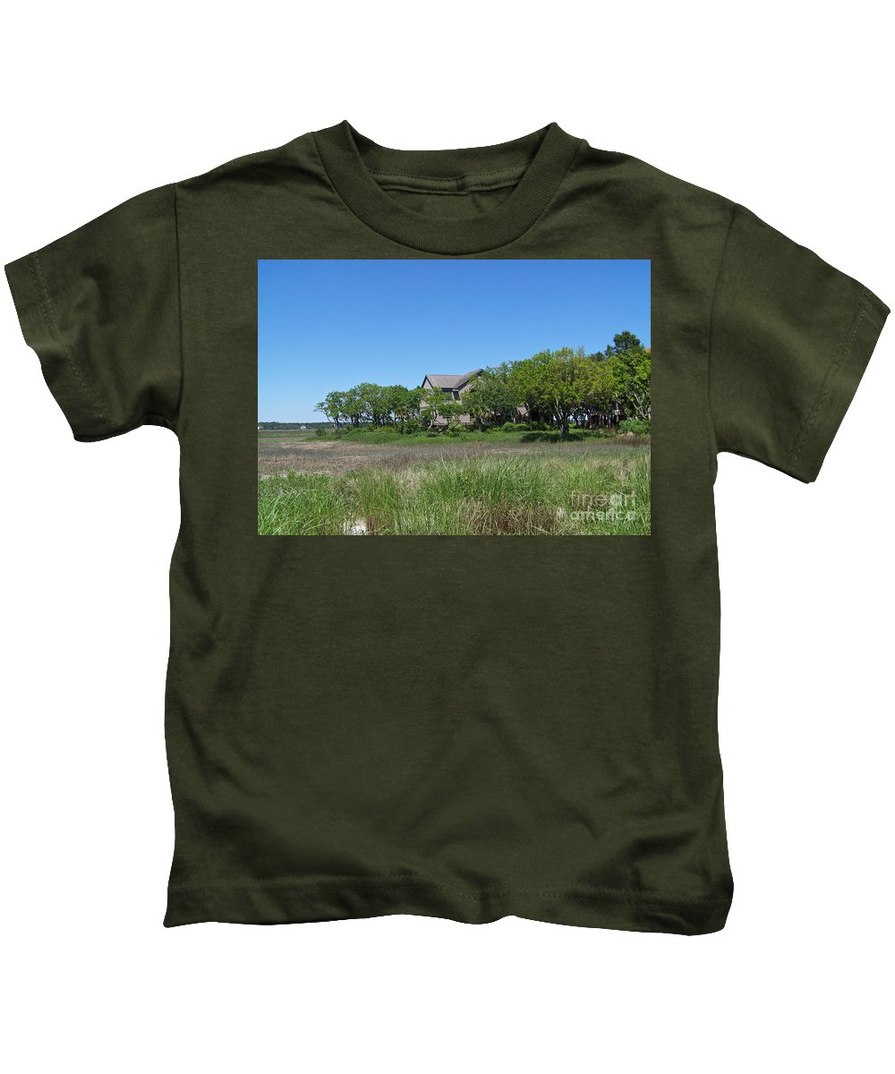 Landscape Kids T-Shirt featuring the photograph A Beautiful Day by Carol Bradley