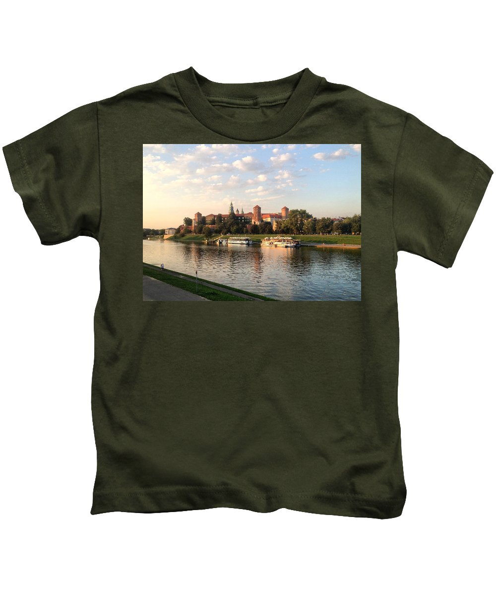 Photography Kids T-Shirt featuring the photograph A Castle On The River by David Thirumur