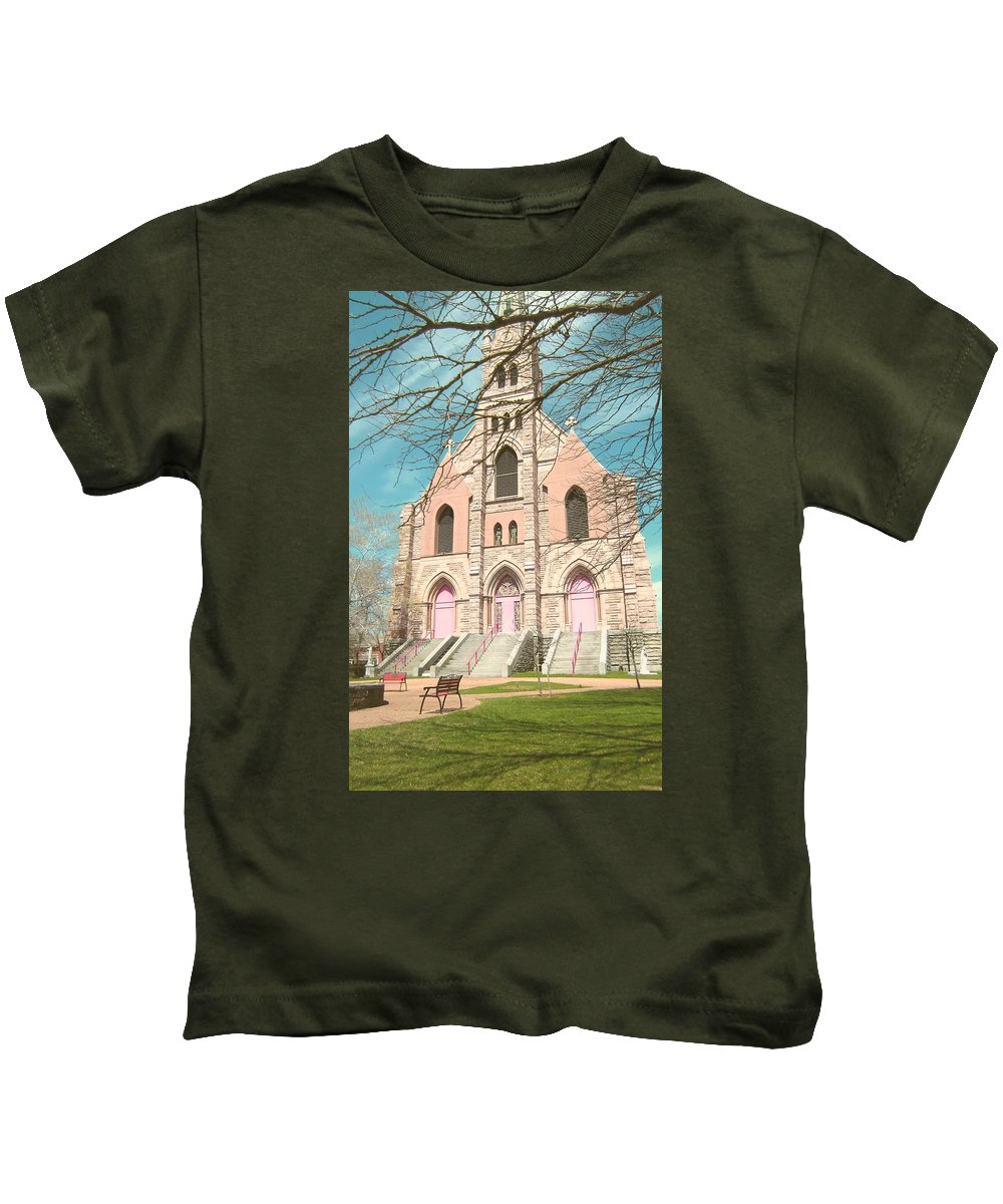 Parish Kids T-Shirt featuring the photograph A Catholic Parish by Jamel Thomas