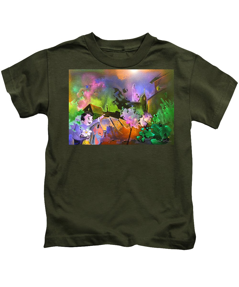 Dream Kids T-Shirt featuring the painting A Daisy For Mary by Miki De Goodaboom