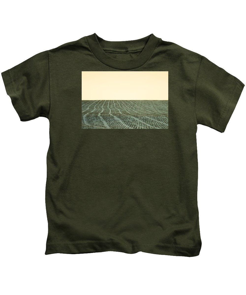 Fallow Kids T-Shirt featuring the photograph A Field Stitched by Todd Klassy