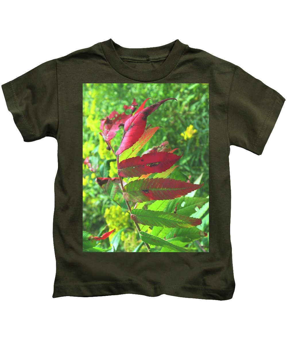 Leaves Kids T-Shirt featuring the photograph A Hard Tough Summer by Ian MacDonald