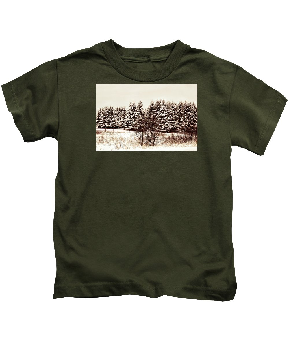 Landscape Kids T-Shirt featuring the photograph A Herd Of Trees by William Tasker