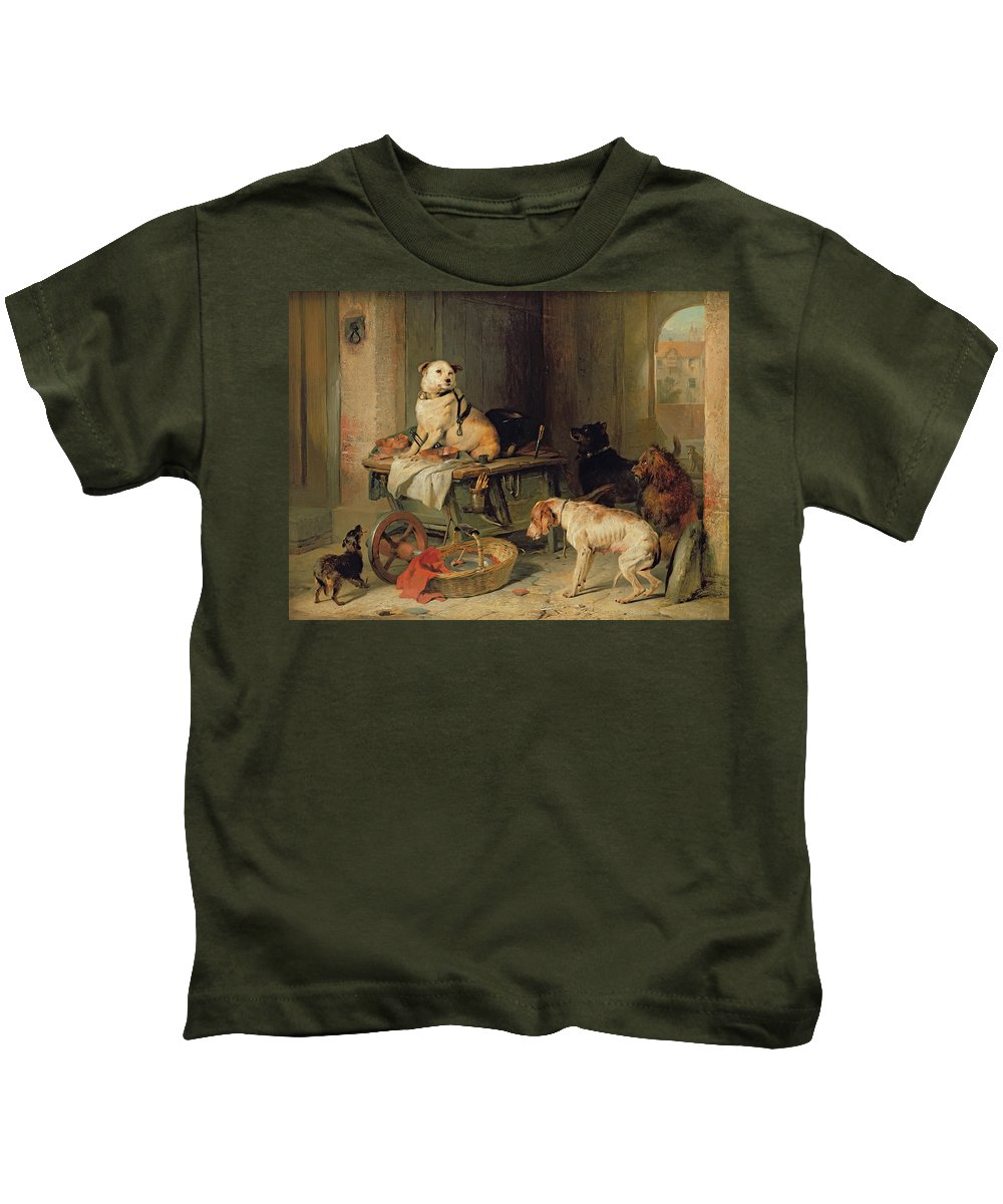 Jack Kids T-Shirt featuring the painting A Jack In Office by Sir Edwin Landseer