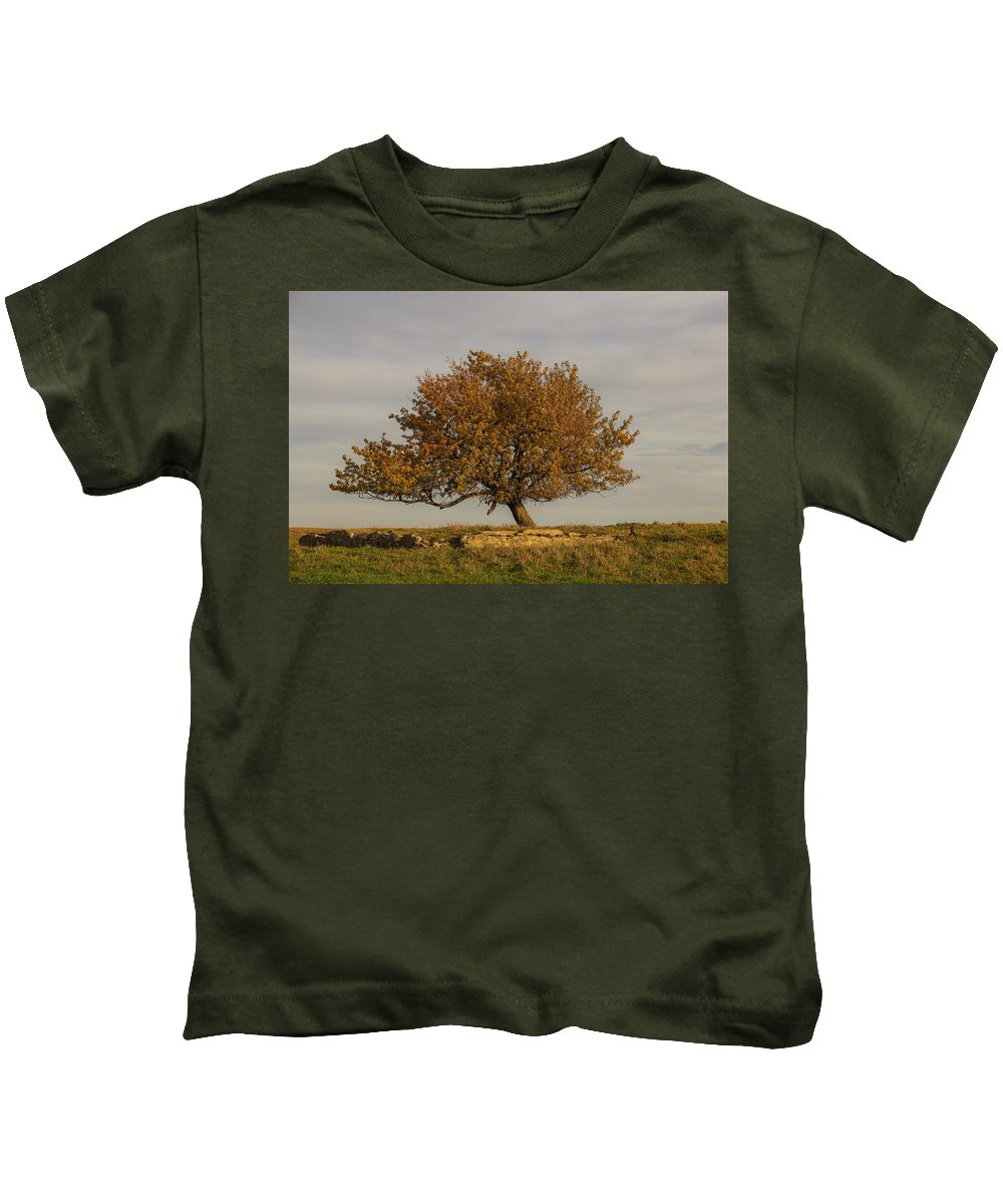 Tree Kids T-Shirt featuring the photograph A Little To The Left by Peter Bouman