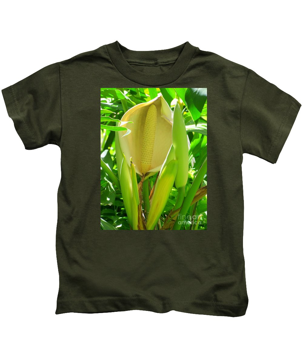 Flower Kids T-Shirt featuring the photograph A Pe by Mary Deal