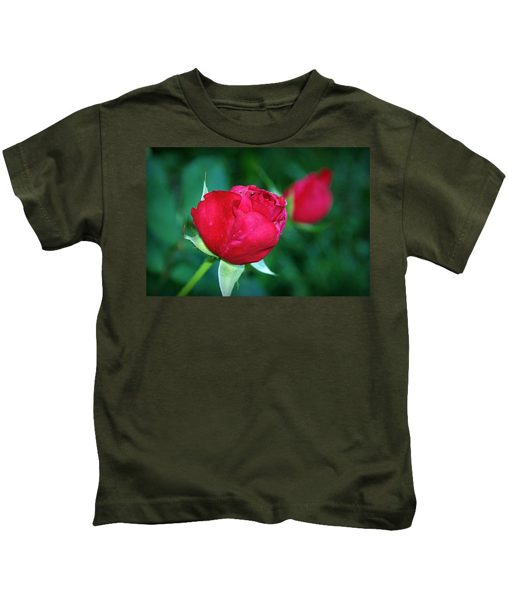 Rose Kids T-Shirt featuring the photograph A Rose By Any Other Name by Cricket Hackmann