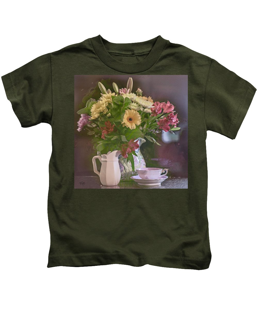 Still Life Kids T-Shirt featuring the photograph A Touch Of Love by Marci Potts