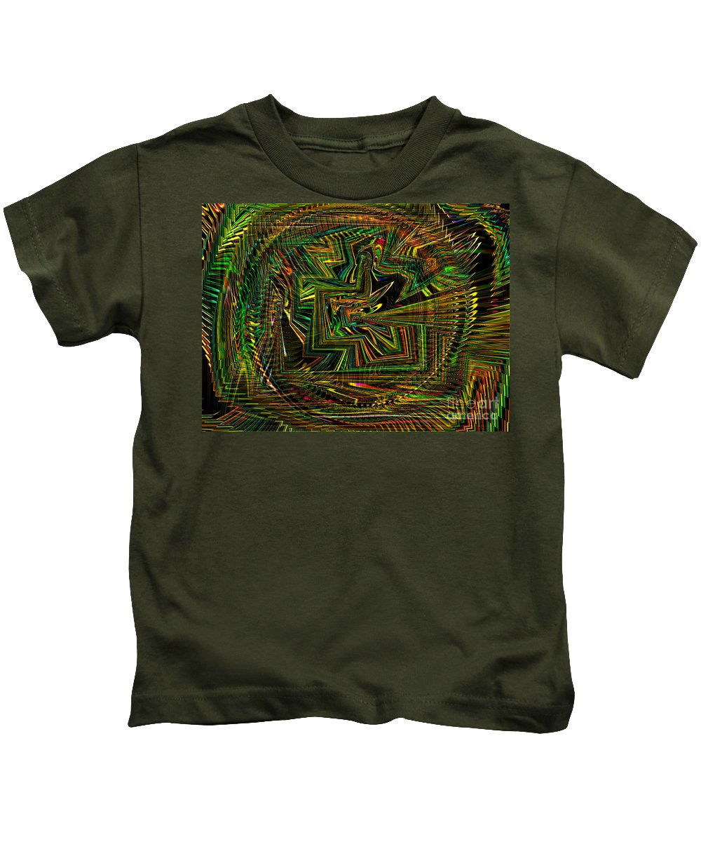 Green Kids T-Shirt featuring the photograph A World Of Rainbows by Debra Lynch