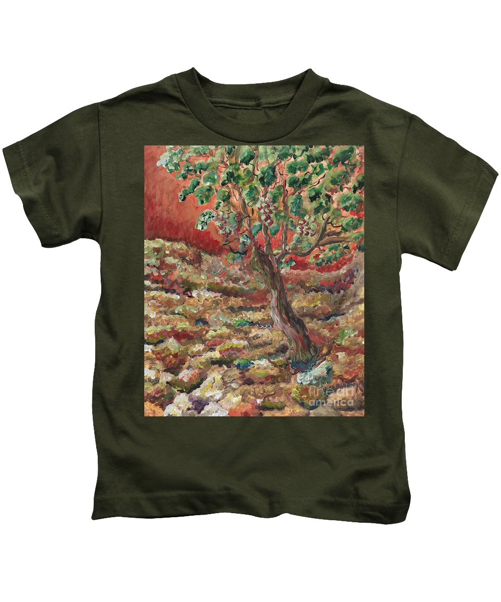 Abide Kids T-Shirt featuring the painting Abide by Nadine Rippelmeyer