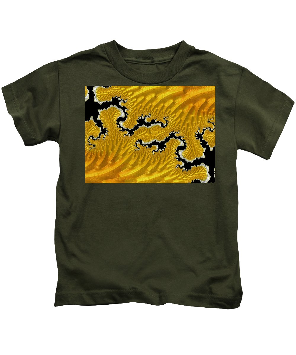 Abstract Kids T-Shirt featuring the photograph About Mountains And Rivers - Abstract by Barbara Zahno