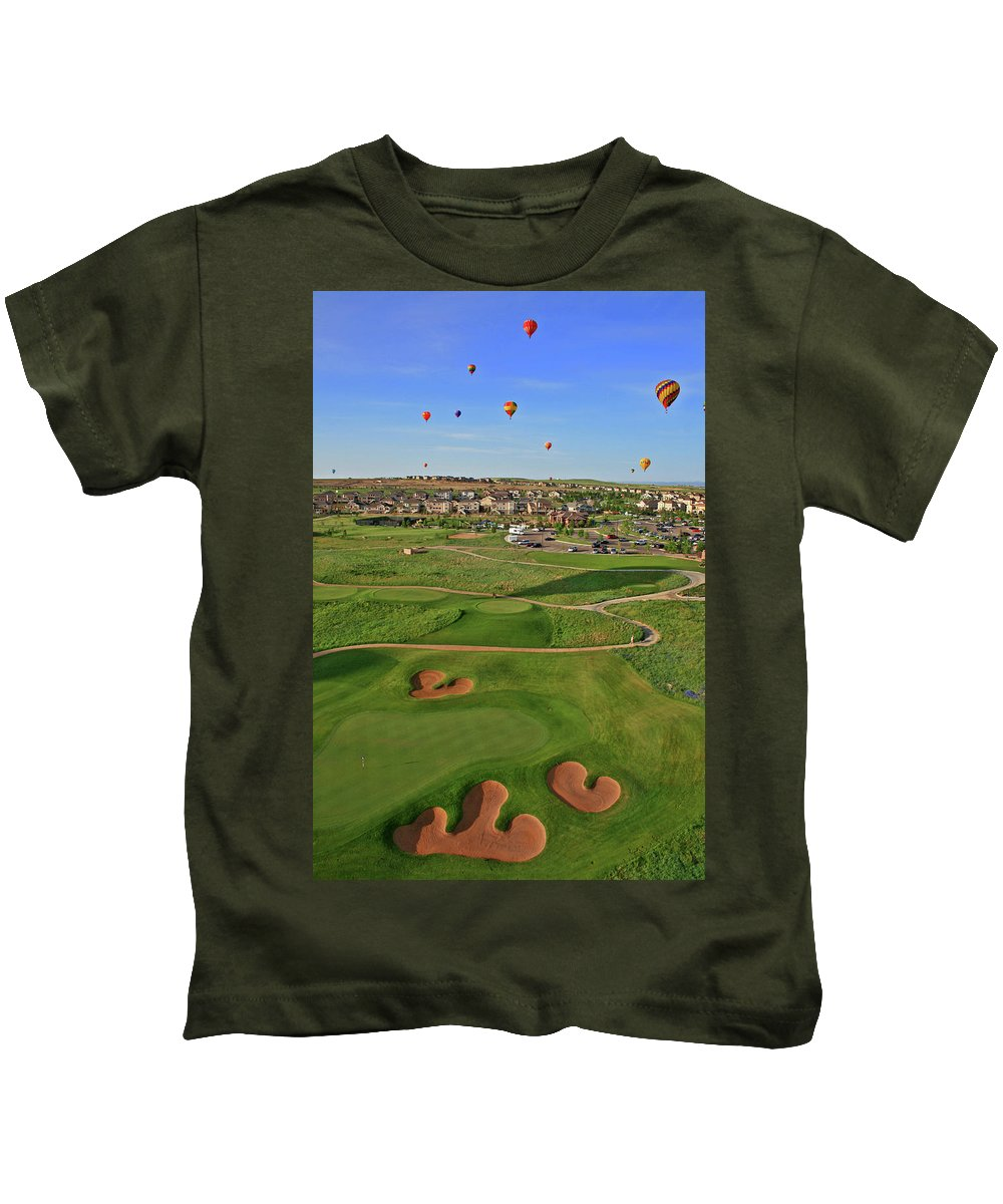Golf Kids T-Shirt featuring the photograph Above The Course by Scott Mahon