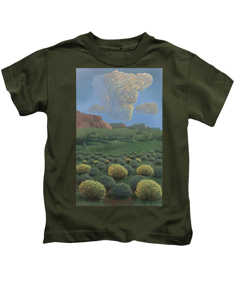Tohdildon Kids T-Shirt featuring the painting Above Tohdildon Wash by Philipp Merillat