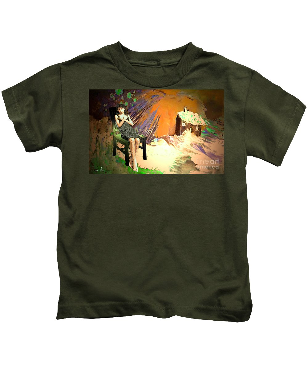 Absent Love Kids T-Shirt featuring the painting Absent Love by Miki De Goodaboom