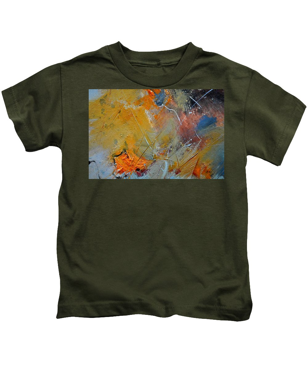 Abstract Kids T-Shirt featuring the painting Abstract 015011 by Pol Ledent