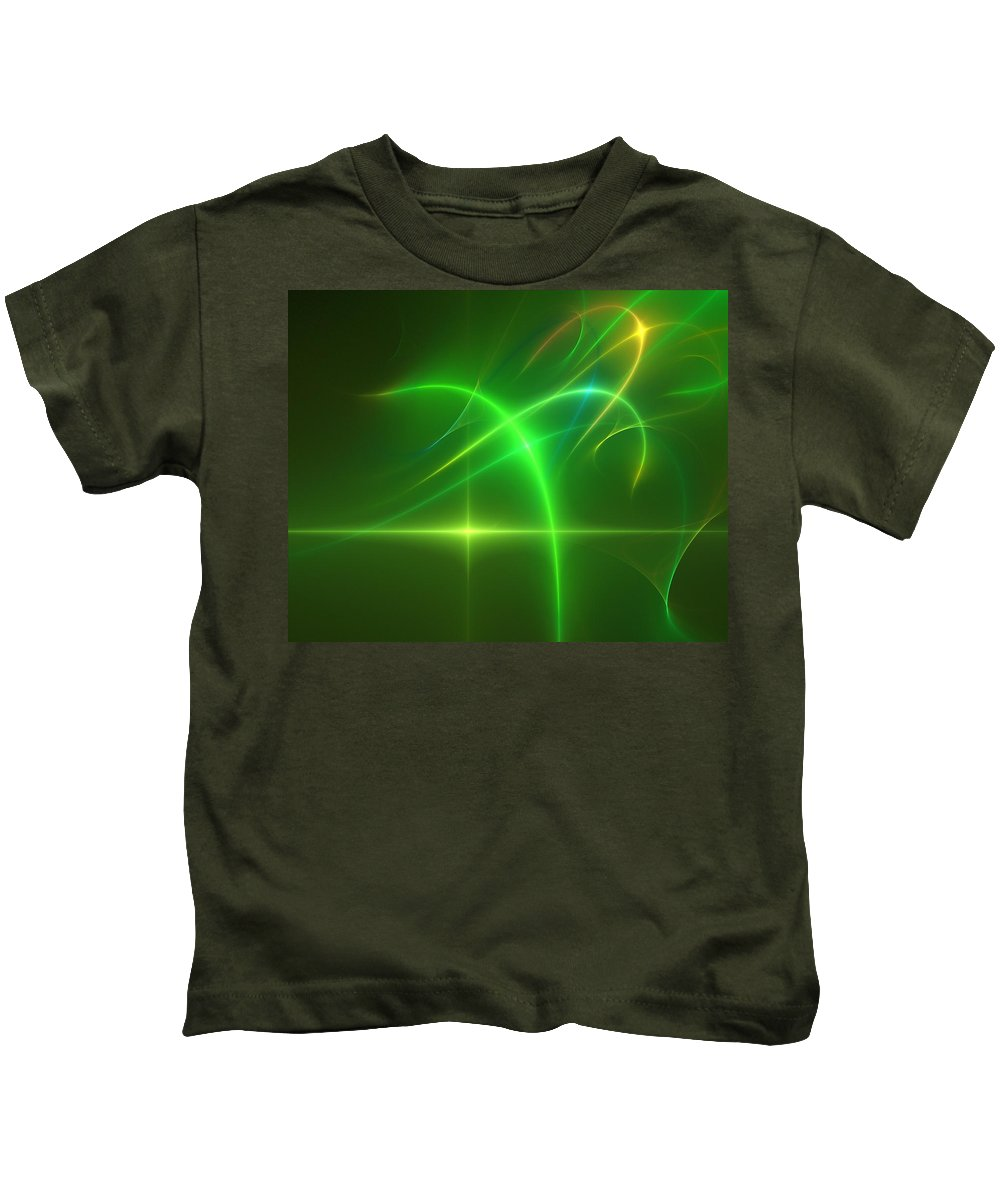 Abstract Kids T-Shirt featuring the digital art Abstract 081210 by David Lane
