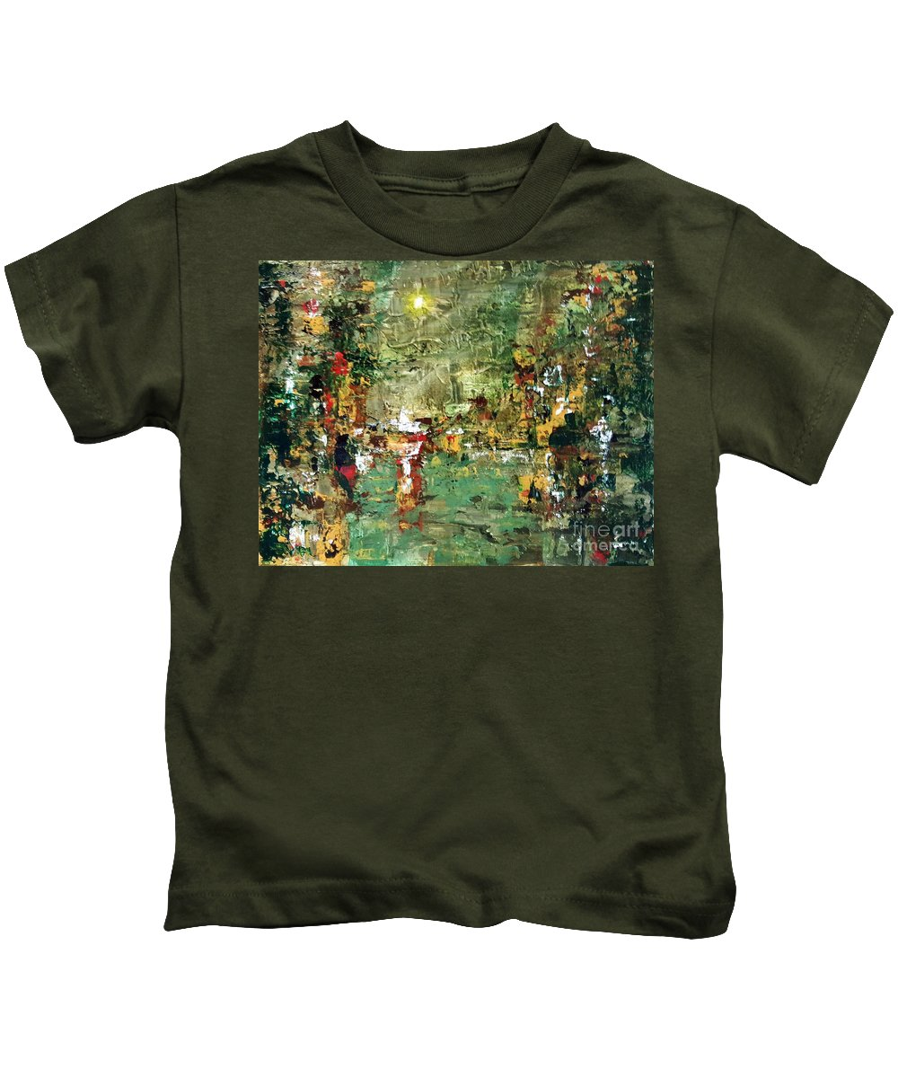 Abstract Kids T-Shirt featuring the painting Abstract 1 by Gerri Anderson