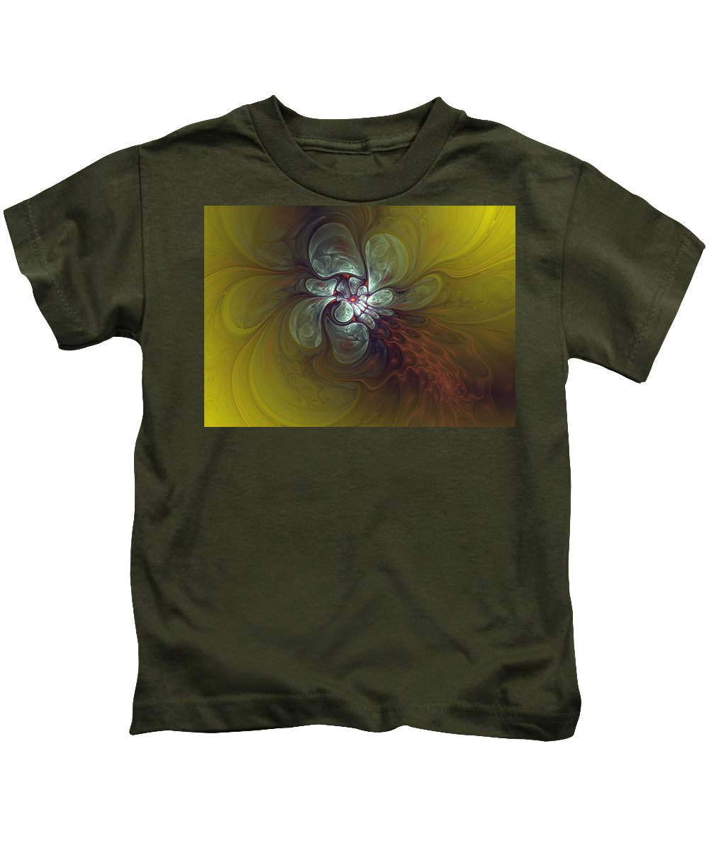 Digital Painting Kids T-Shirt featuring the digital art Abstract 51710 by David Lane