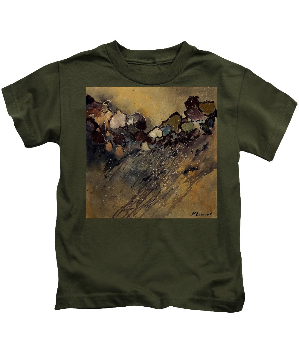 Abstract Kids T-Shirt featuring the painting Abstract 55901161 by Pol Ledent