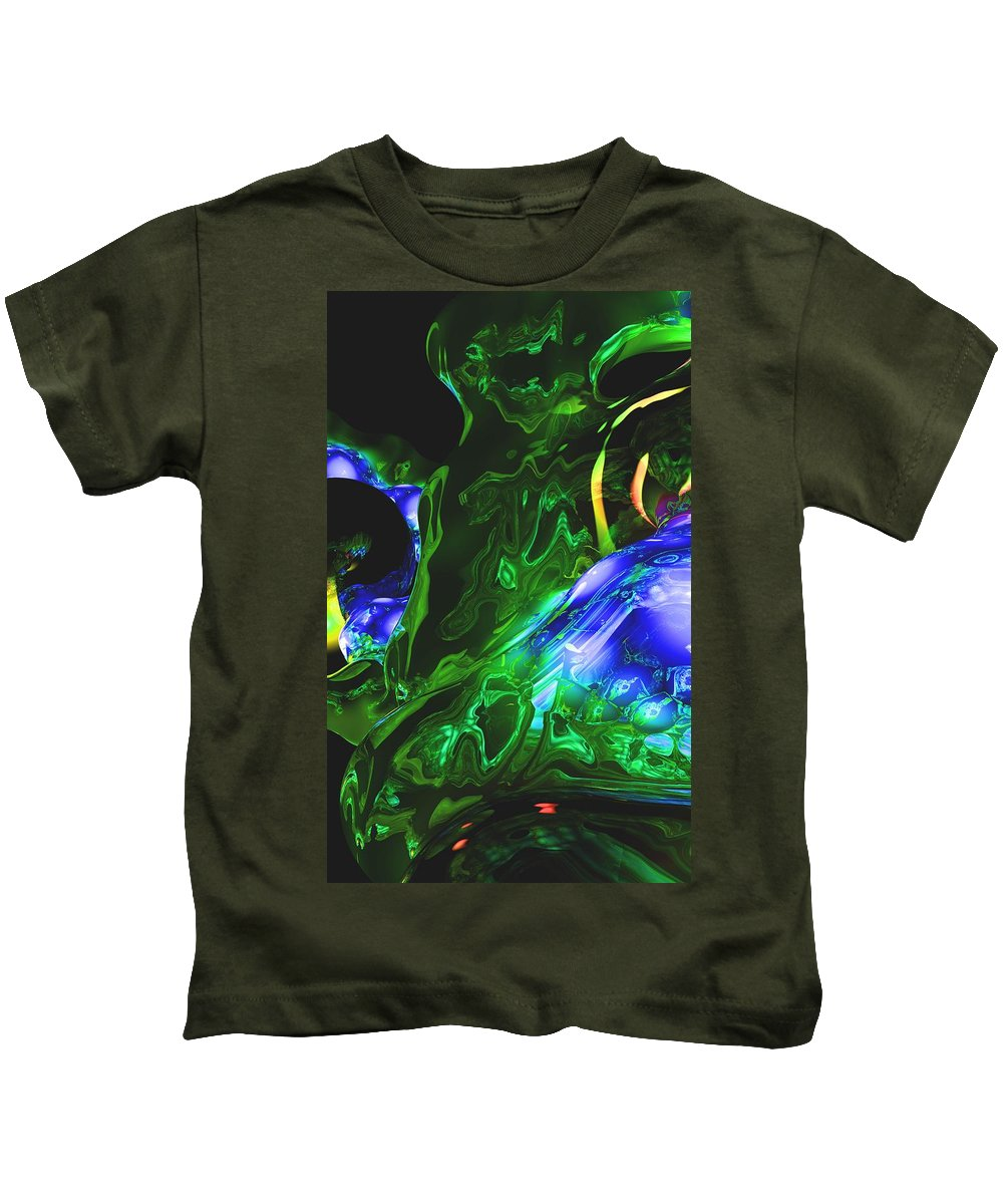 Abstract Kids T-Shirt featuring the digital art Abstract 7-25-09-1 by David Lane