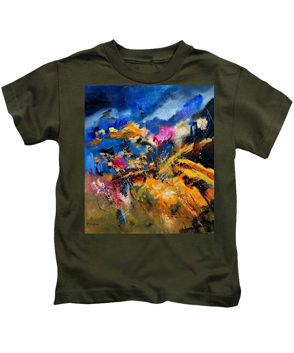 Abstract Kids T-Shirt featuring the painting Abstract 7808082 by Pol Ledent