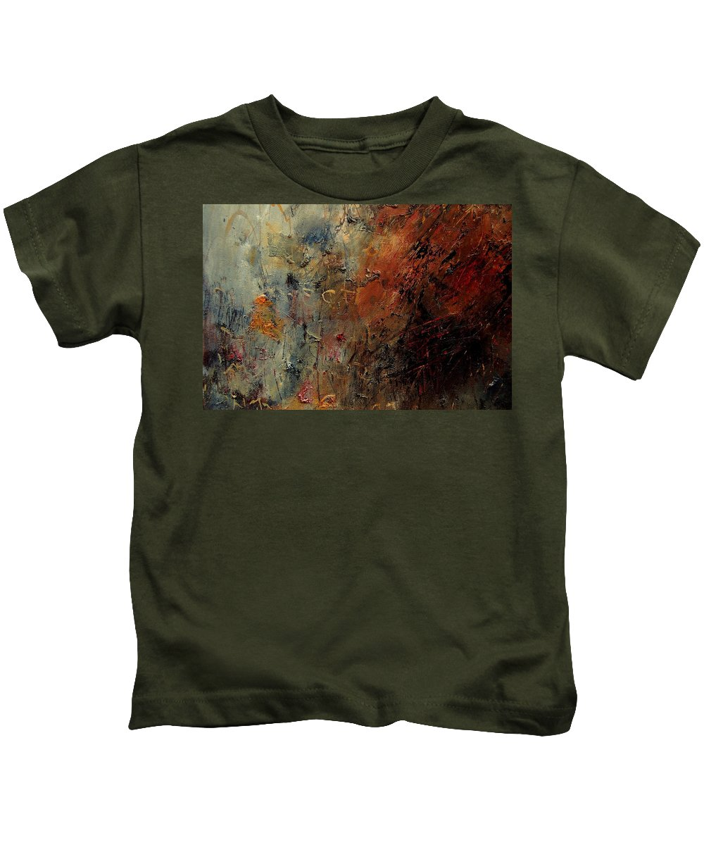 Abstract Kids T-Shirt featuring the painting Abstract 900192 by Pol Ledent