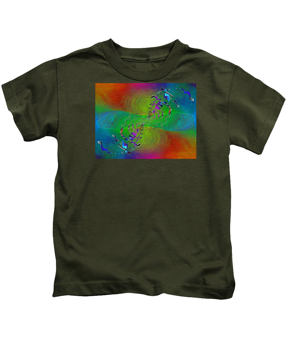 Abstract Kids T-Shirt featuring the digital art Abstract Cubed 345 by Tim Allen