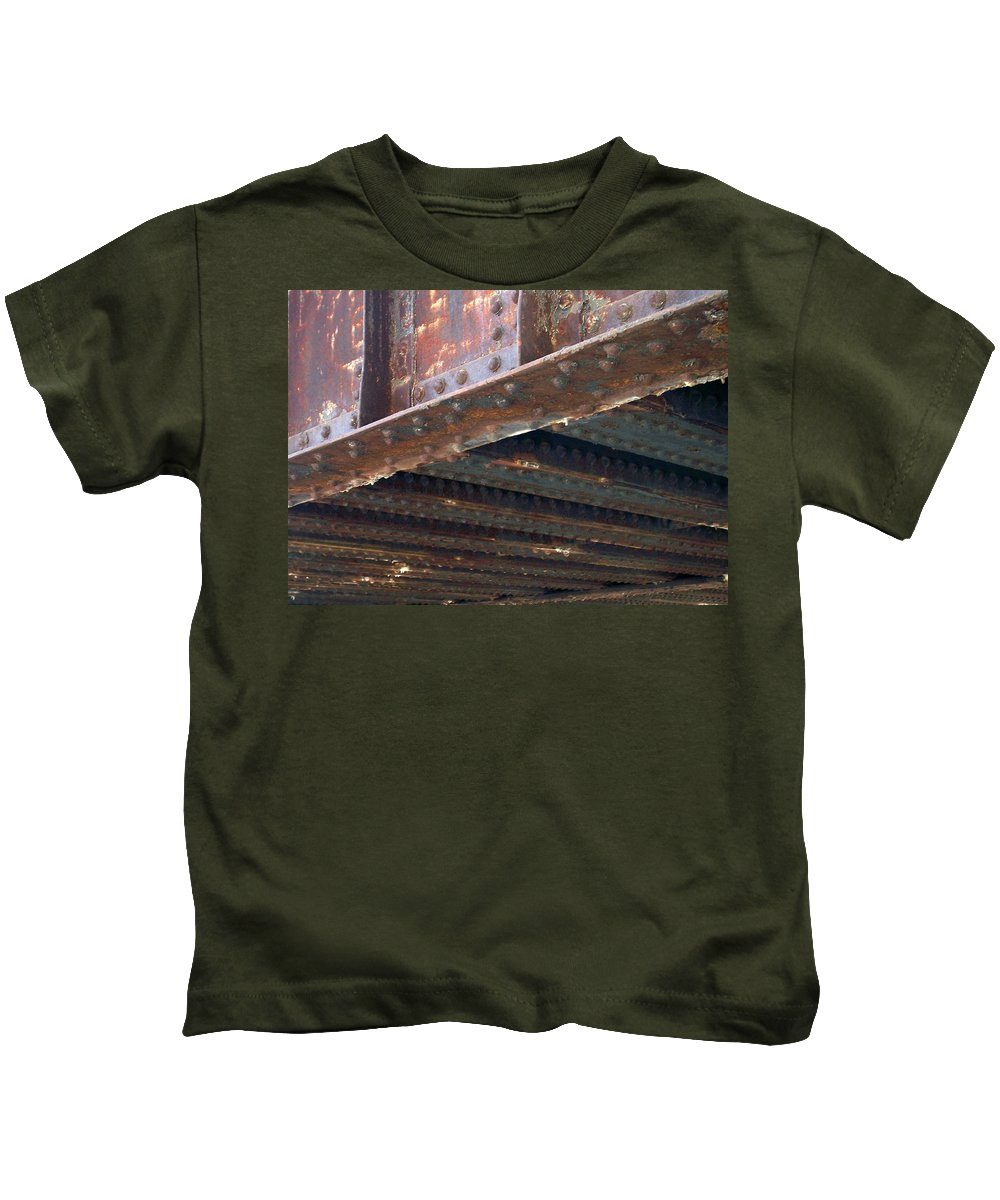 Urban Kids T-Shirt featuring the photograph Abstract Rust 4 by Anita Burgermeister