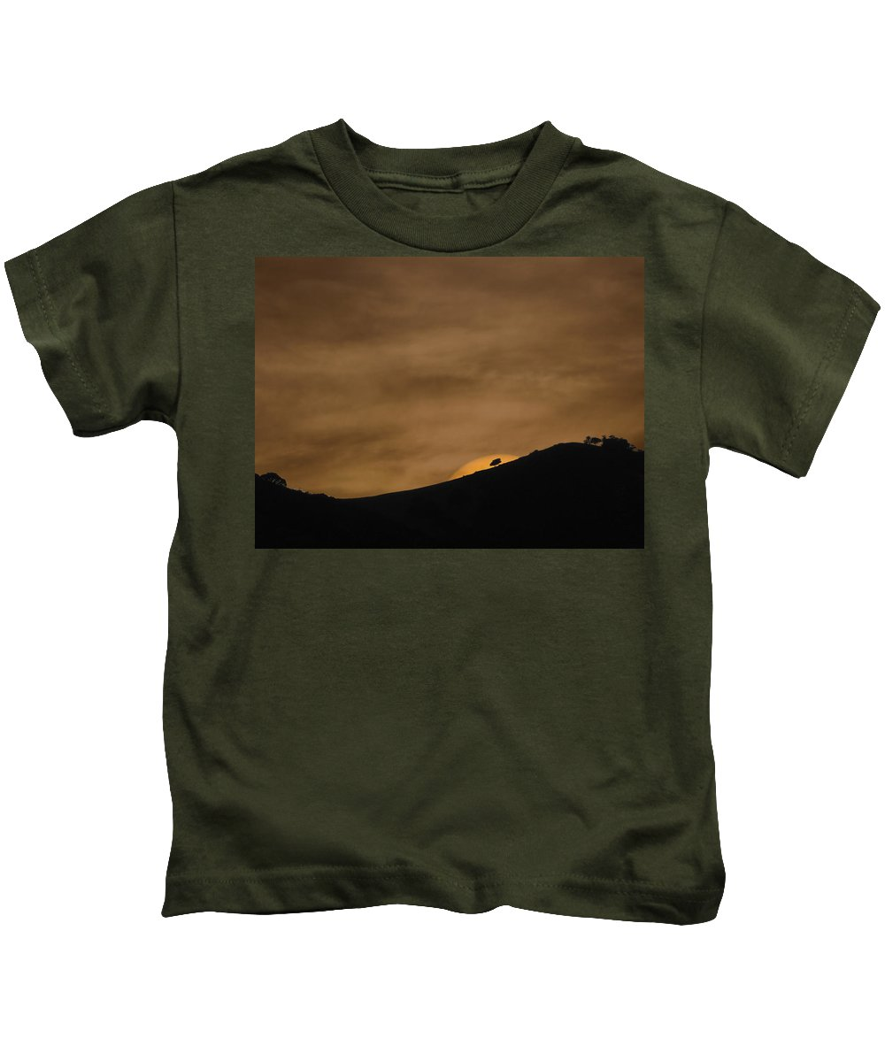 Landscapes Kids T-Shirt featuring the photograph Abstract Sunset At Del Valle by Karen W Meyer