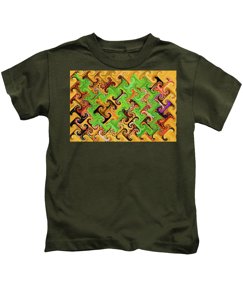 Add Some Green Kids T-Shirt featuring the digital art Add Some Green by Tom Janca
