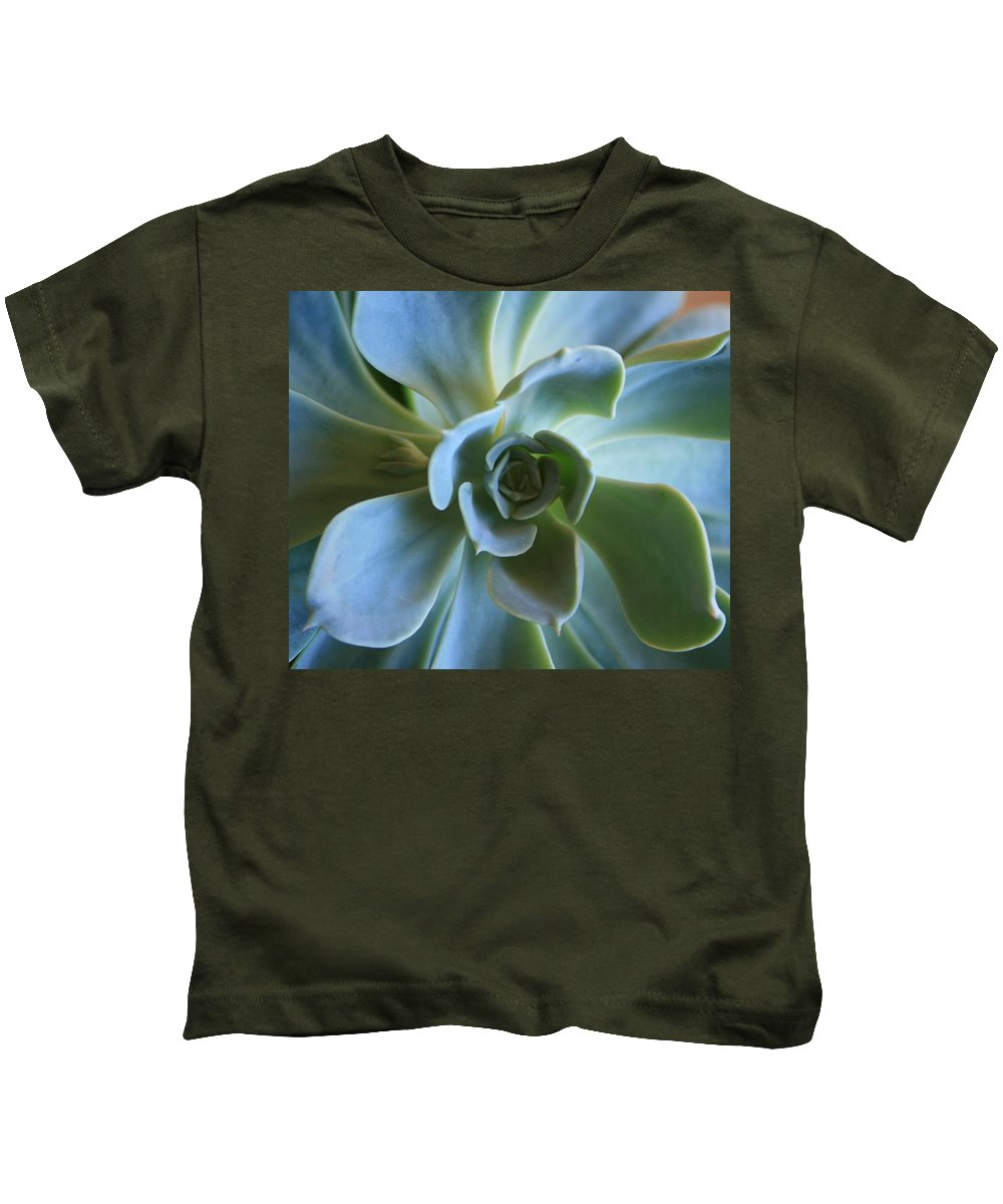Aeonium Kids T-Shirt featuring the photograph Aeonium by Marna Edwards Flavell