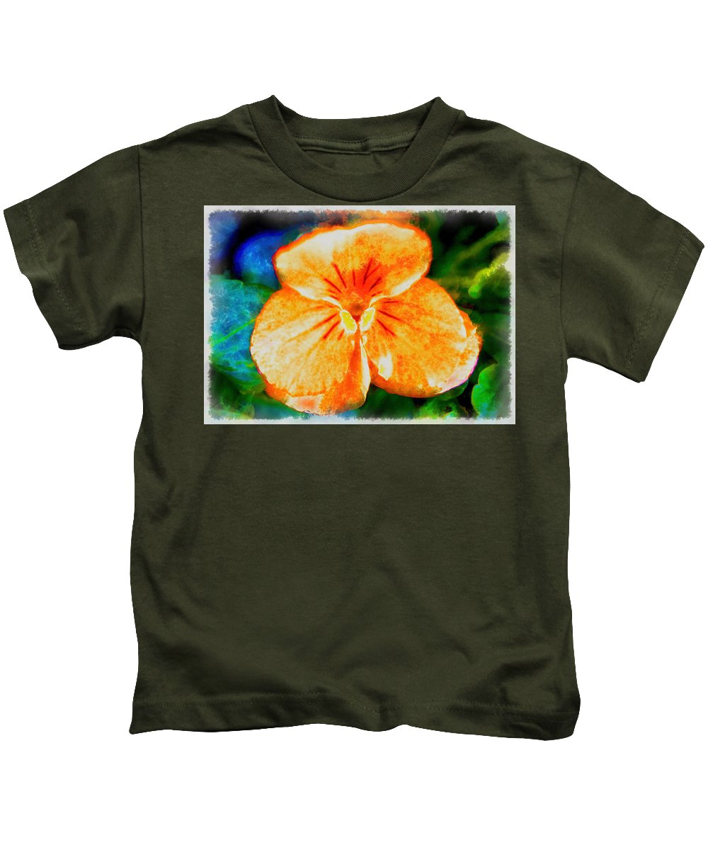 African Violet Kids T-Shirt featuring the photograph African Violet In Rancho Santa Fe 2 by Kenneth Roberts