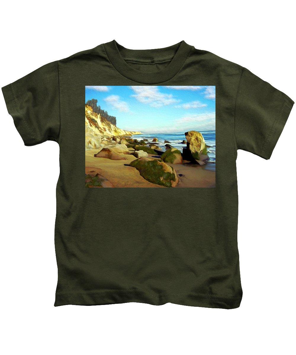 Ocean Kids T-Shirt featuring the photograph After The Fog Gaviota by Kurt Van Wagner