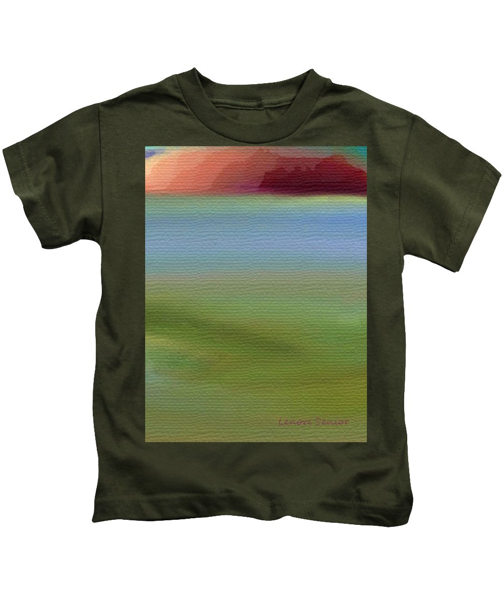 Abstract Kids T-Shirt featuring the painting Alcatraz by Lenore Senior