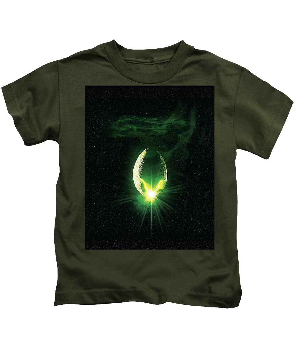 Alien 1979 Kids T-Shirt featuring the digital art Alien 1979 by Geek N Rock