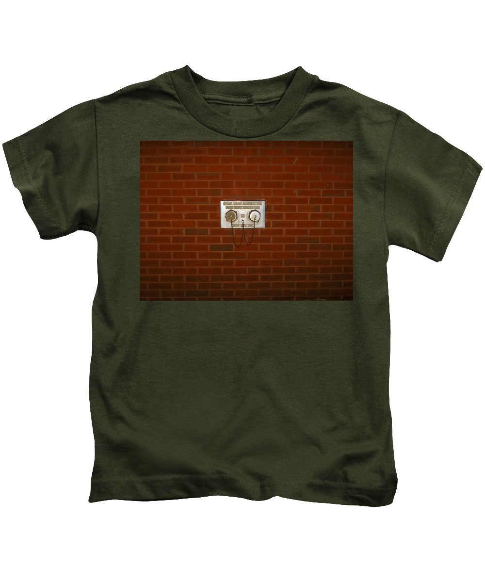 Photograph Kids T-Shirt featuring the photograph All Alone Pump Test by Thomas Valentine