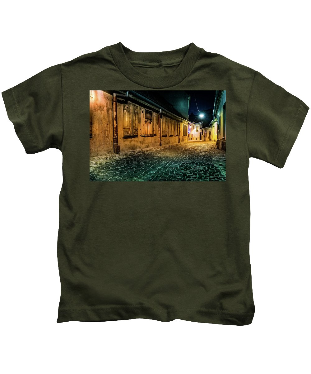 Romania Kids T-Shirt featuring the photograph Alley by Mihai Andritoiu