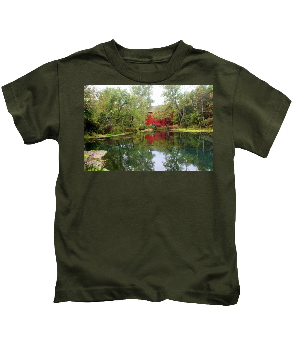 Mill Kids T-Shirt featuring the photograph Allsy Sprng Mill by Marty Koch