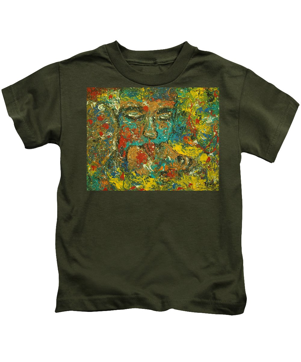 Romantic Kids T-Shirt featuring the painting Allure Of Love by Natalie Holland
