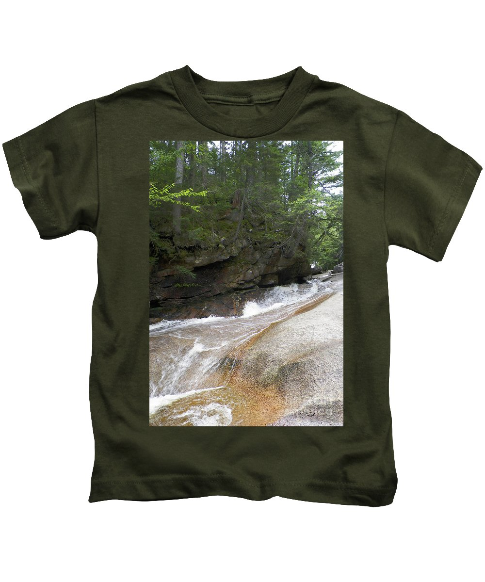 Mountains Kids T-Shirt featuring the photograph Along The Mountain Side by Gina Sullivan