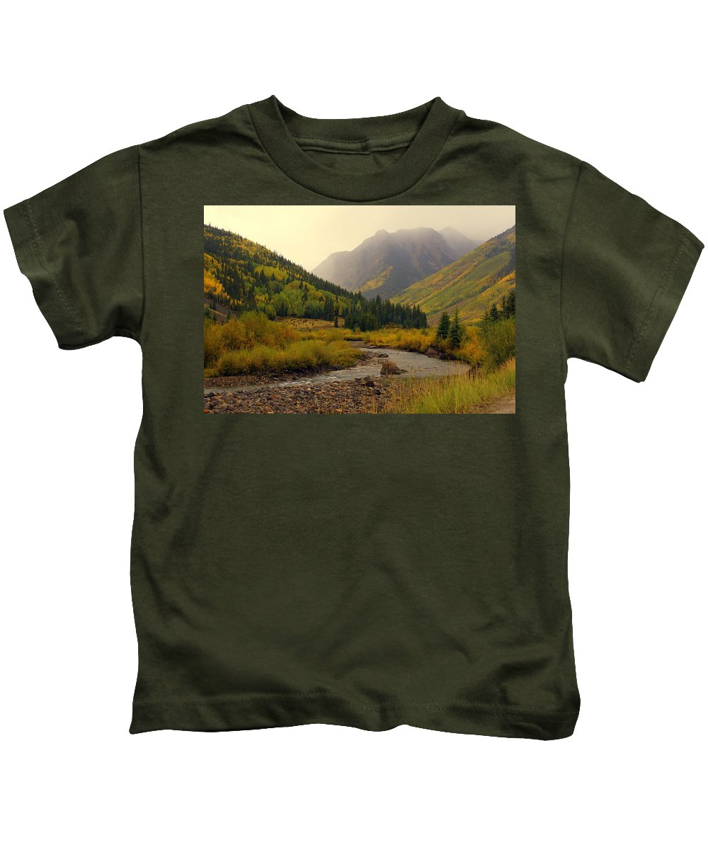 Colorado Kids T-Shirt featuring the photograph Alpine Loop Fall by Marty Koch