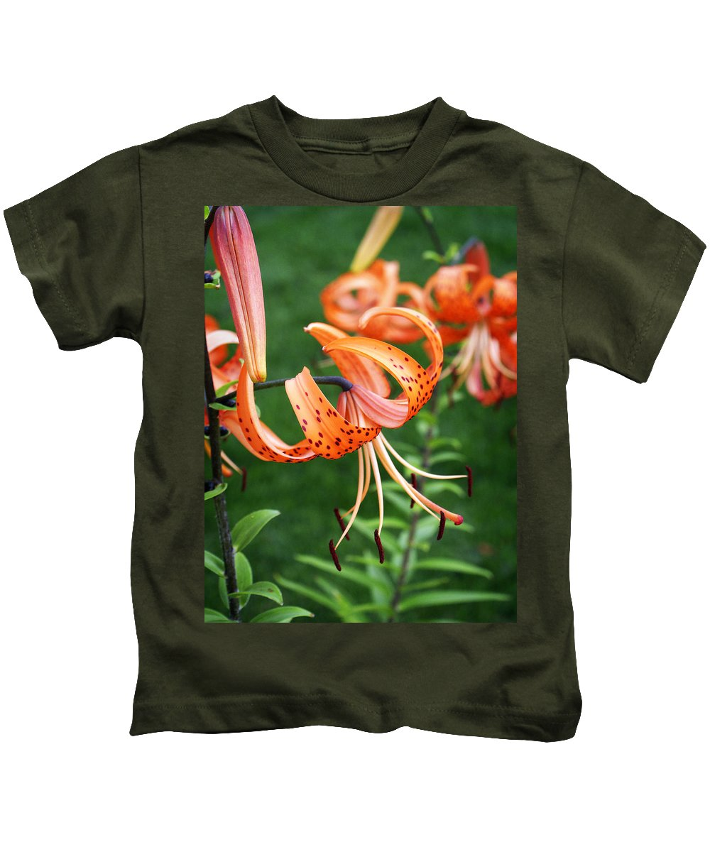 Orange Kids T-Shirt featuring the photograph Amazing Tiger Lily by Marilyn Hunt