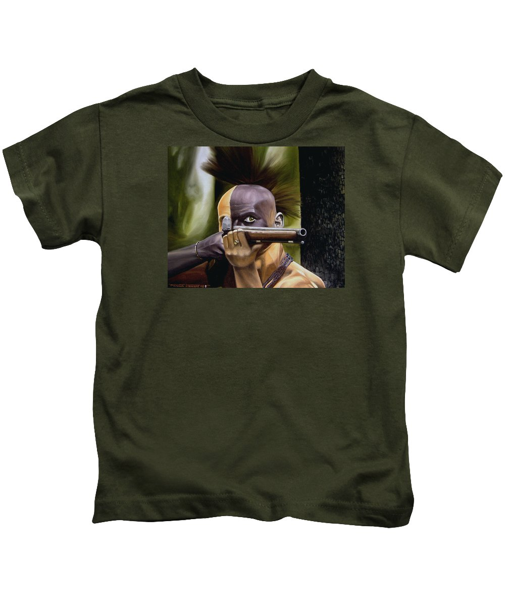 Indian Kids T-Shirt featuring the painting Ambush by Marc Stewart