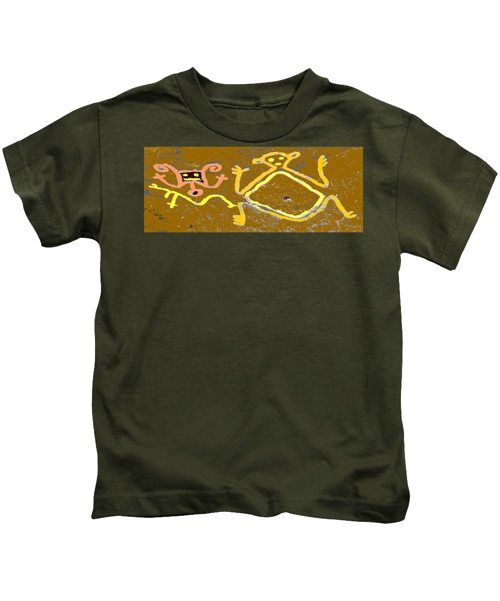 Native Kids T-Shirt featuring the photograph Ancient Drawings by Ian MacDonald