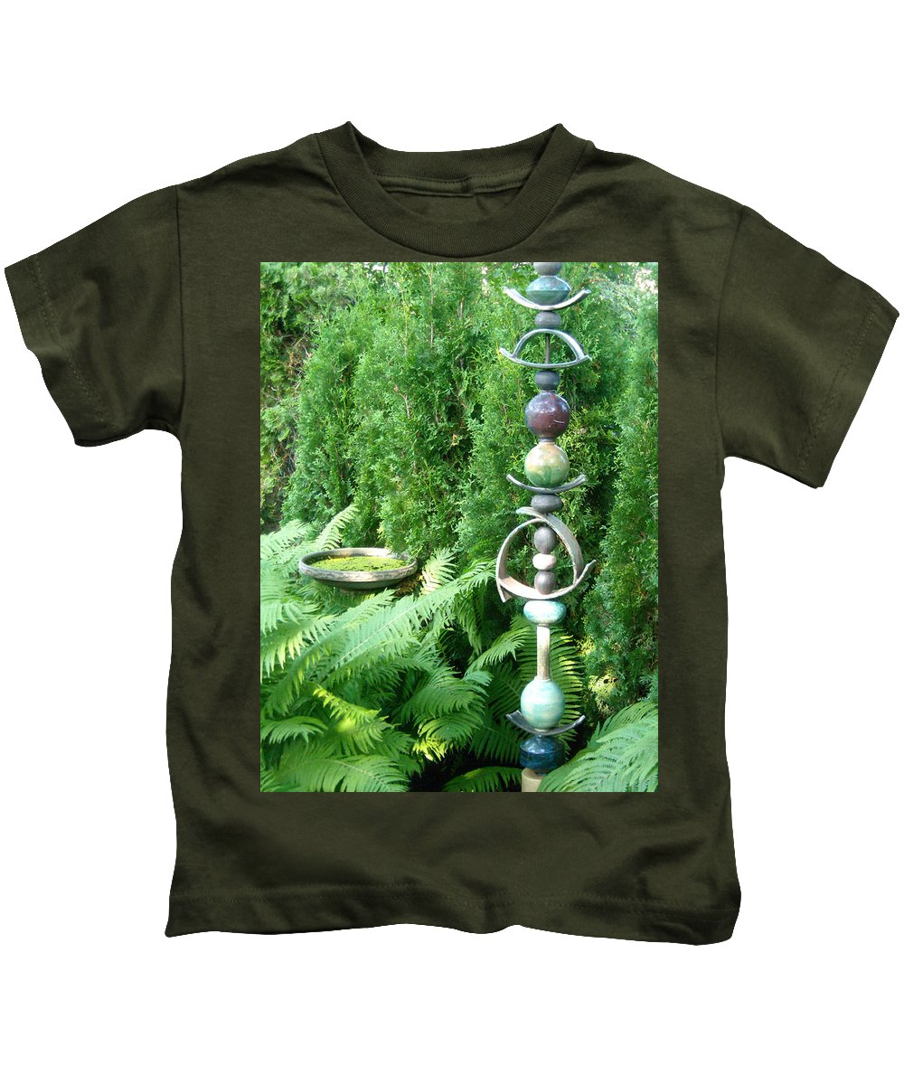 Sculpture Kids T-Shirt featuring the photograph And Sculpture Garden by Line Gagne