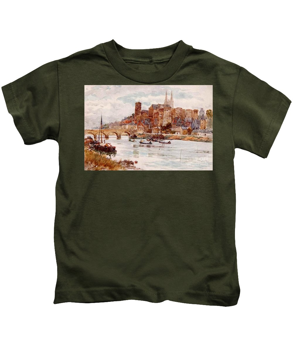 Herbert Menzies Marshall - Angers 1906 Kids T-Shirt featuring the painting Angers by MotionAge Designs