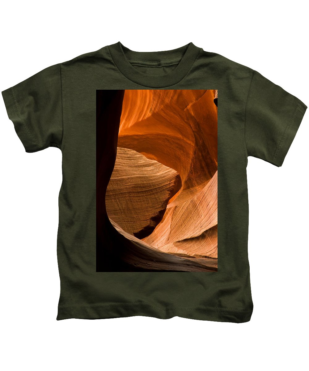 3scape Photos Kids T-Shirt featuring the photograph Antelope Canyon No 3 by Adam Romanowicz